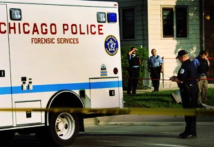 Chicago crime scene