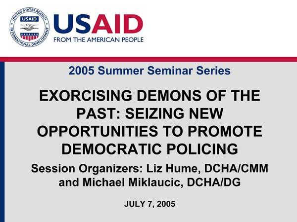 USAID PowerPoint slide