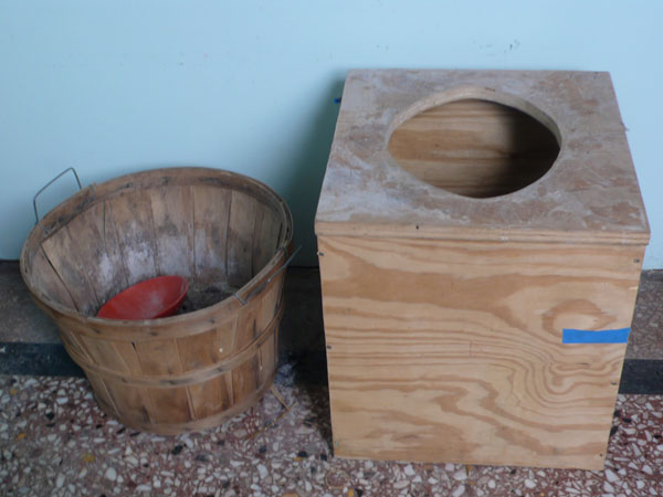 sawdust compost toilet