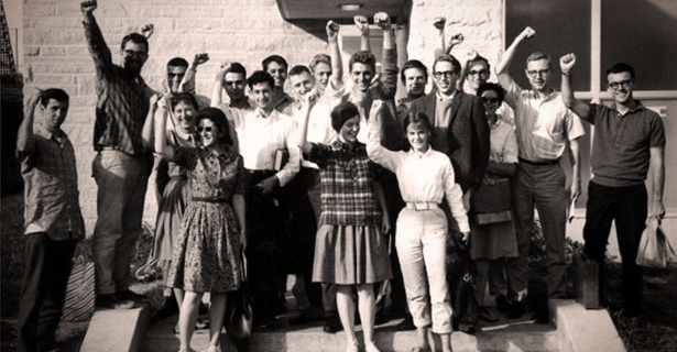 Students for a Democratic Society meeting 1963
