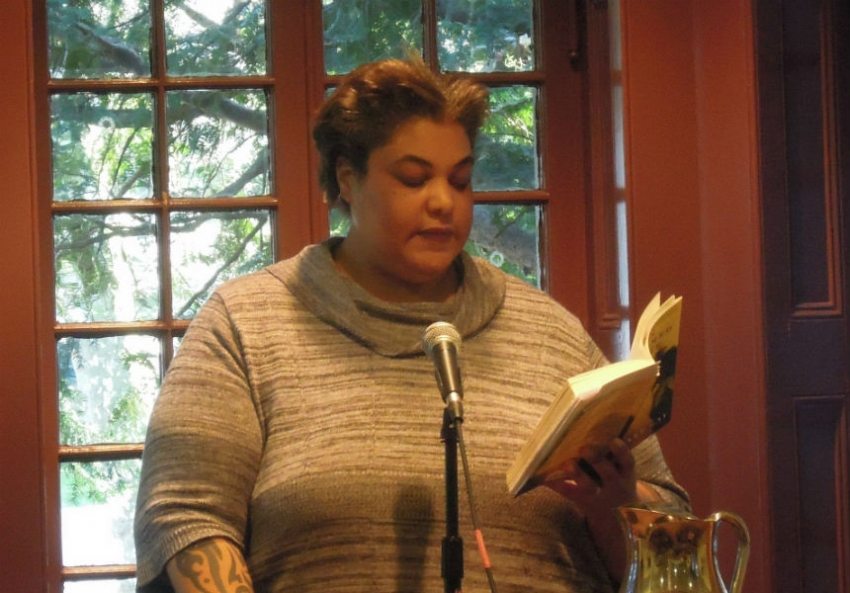 lessons from a bad feminist in these times though roxane gay pictured here at a book reading in writes routinely from her own experiences she never allows her persona to dominate her essays