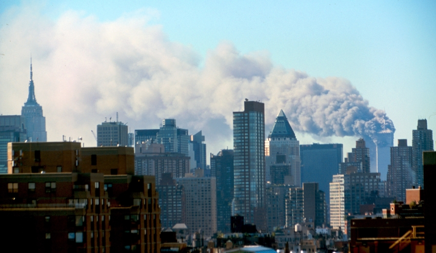 a6381a475b7 The New York City skyline on Sept. 11, 2001. (Universal History Archive/UIG  via Getty Images)