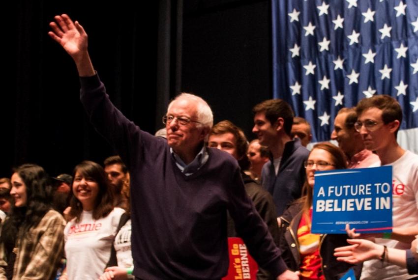 Election 2016 Bernie Sanders 2016 Metal Head Black Adult Tank Top