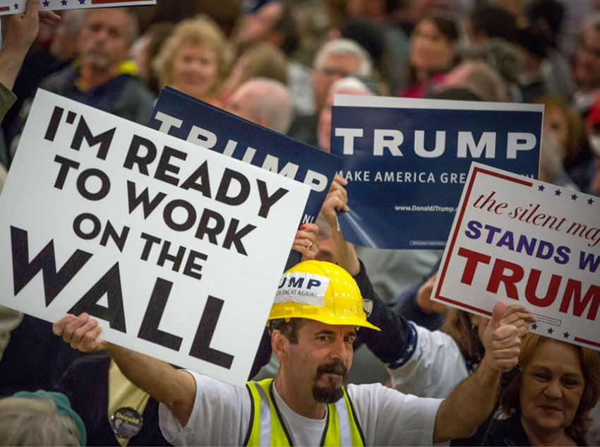 Image result for racist trump voters wall