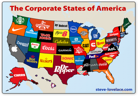 The Corporate States Of America In Graphic Relief - Poorest states in usa