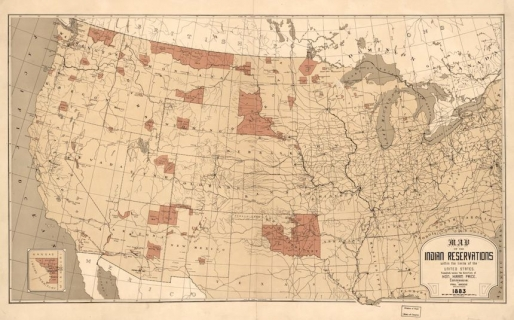Myth 11 The United States Gave Indians Their Reservations - Map-of-reservations-in-us