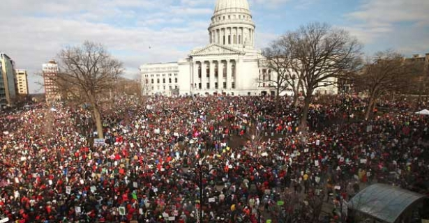 Madison protest, March 12