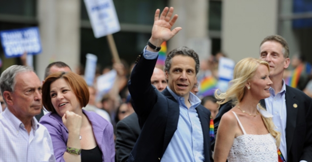 new york governor andrew cuomo michael bloomberg pride parade
