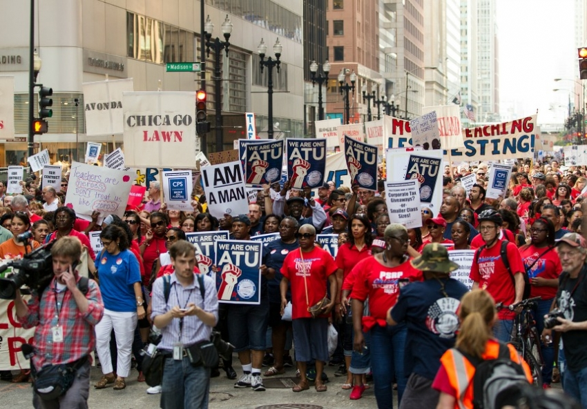 Chicago Educators Marching