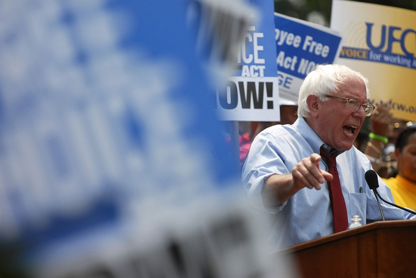Bernie Sanders' Labor Plan Could Put a Union in Every Workplace in America