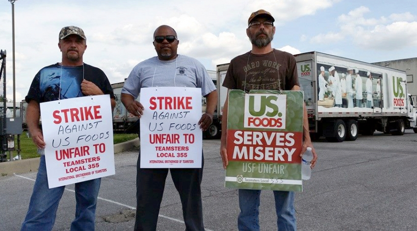 Rolling Strike By Teamsters at US Foods Aims to Protect