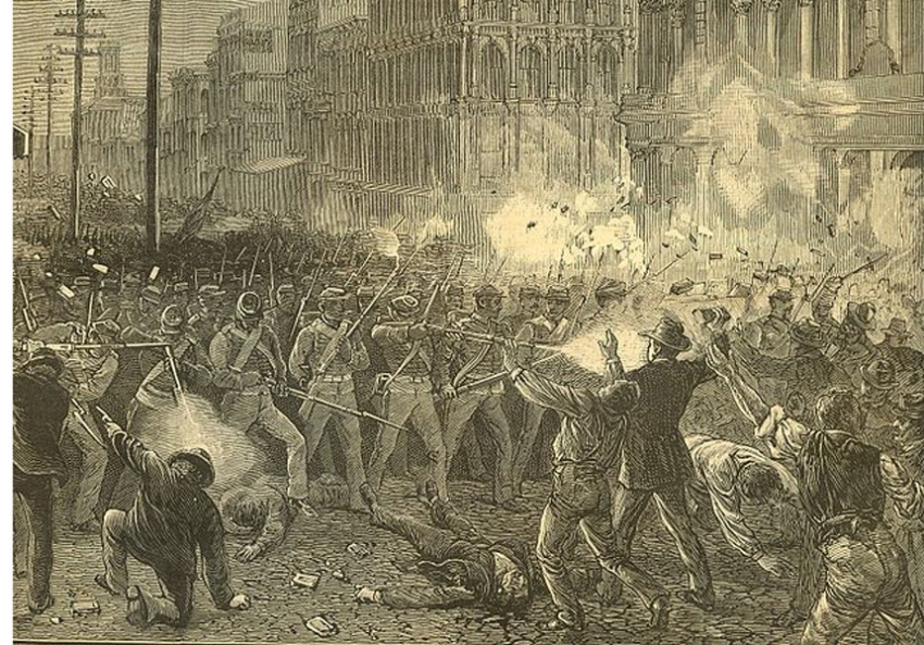 a history of the great railroad strike in america