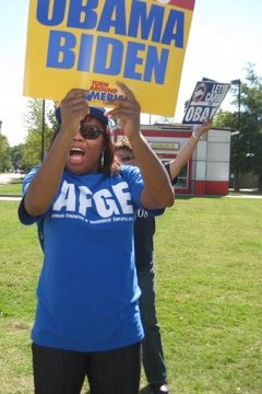 AFGE for Obama? The union is not so enthusiastic after The White House froze the wages of federal employees on Monday.   (Photo courtesy of the AFL-CIO)