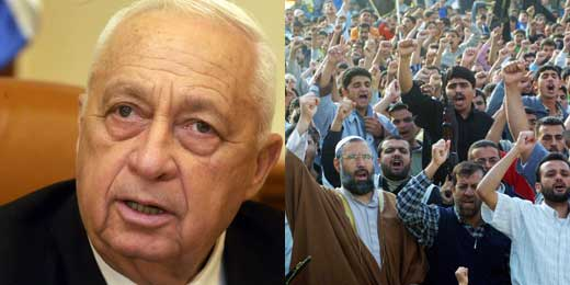 P.M. Ariel Sharon / Palestinian Demonstration in Gaza